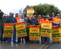 Unite workers