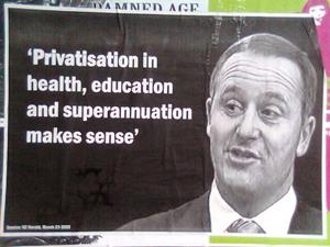 'Privatisation in health, education and superannuation makes sense'