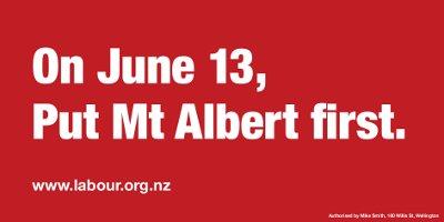 Mt Albert Labour Hoarding
