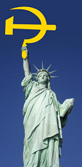 statue-of-liberty-hammer-and-sickle-holding-communist-symbol-yellow-deep-blue-sky-photo1