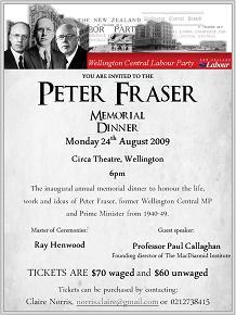 Peter Fraser dinner