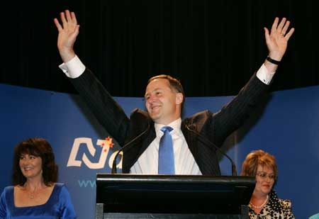 John Key The Rapture Election night 2008