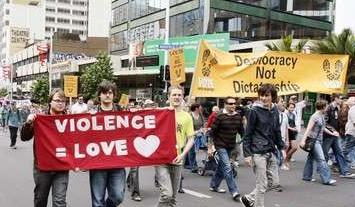 violence equals love