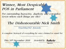 Nick Smith Hypocrisy