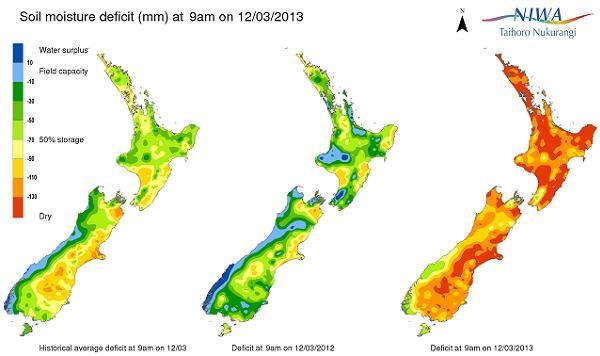 soil moisture deficit 20130312