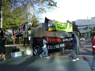 Aotea Square - Penny bright & banners