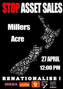 Nelson stop asset sales day of action poster April 2013