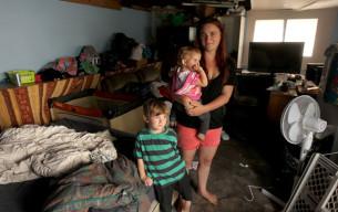 Housing crisis quake hit families