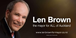 len brown mayor for all auckland