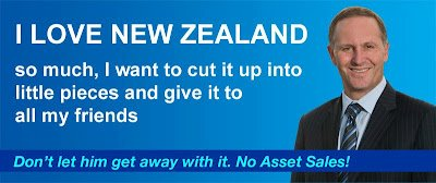 John Key billboard selling New Zealand