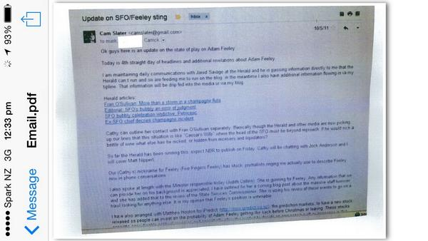 Cameron Slater Feeley email