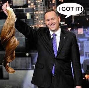 John Key ponytail