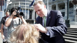 John Key touching hair 002
