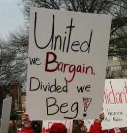 United we bargain divided we beg