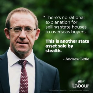 Andrew Little state housing sale