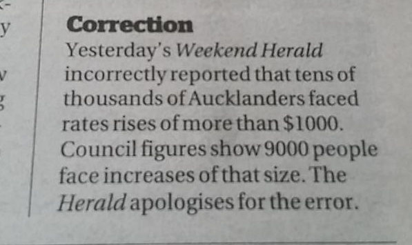 Herald correction