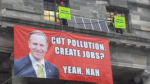 John Key cut pollution create jobs yeah nah2