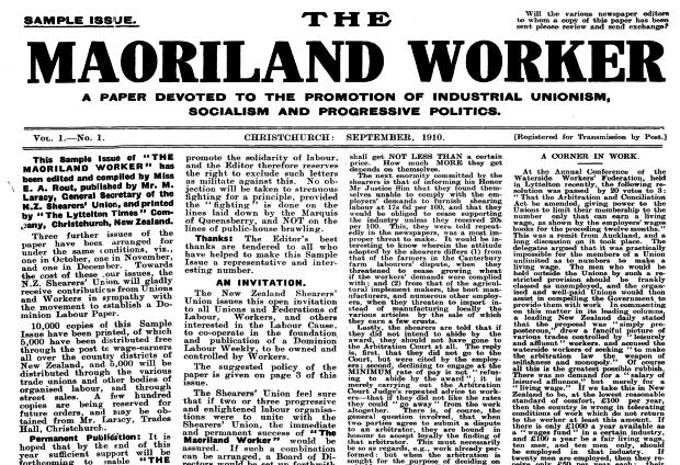 Maoriland worker