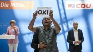 Greece referendum protest