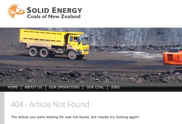 Solid Energy missing report