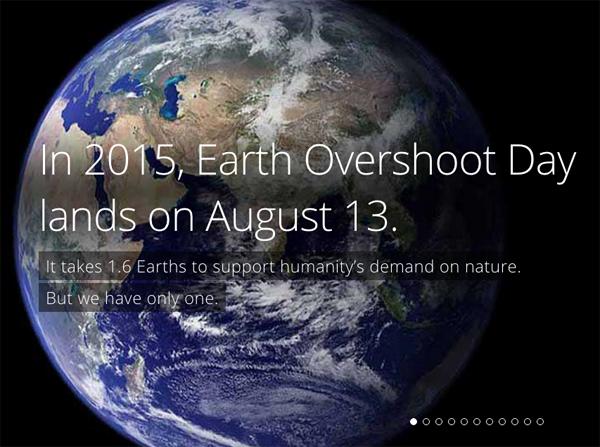 earth overshoot day 2015