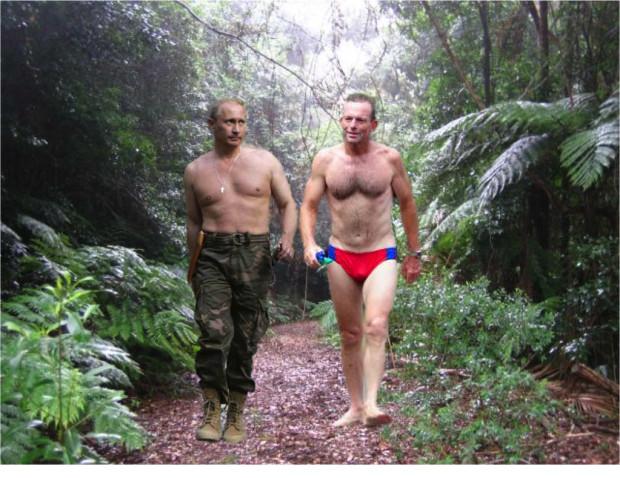Putin Abbott speedos