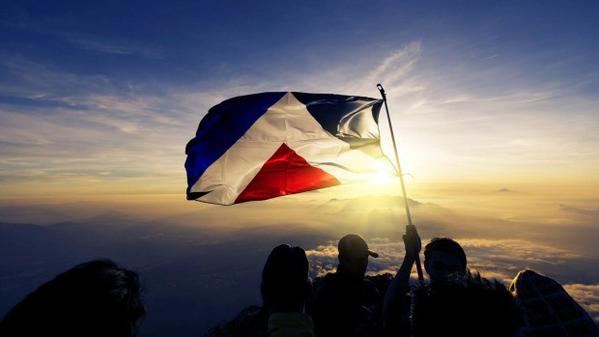 Red peak flag