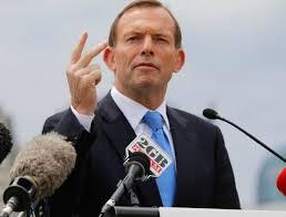 Tony Abbott fingers