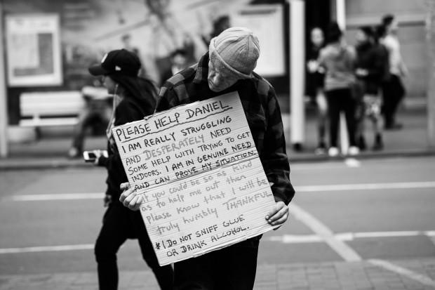 beggar homeless