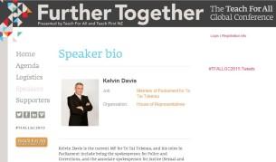 kelvin davis speaker at teach for all conference