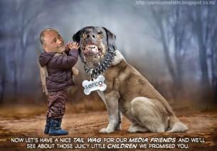 sam lotu iinga with a dog called serco