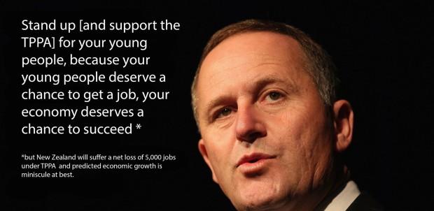 John Key TPPA job losses