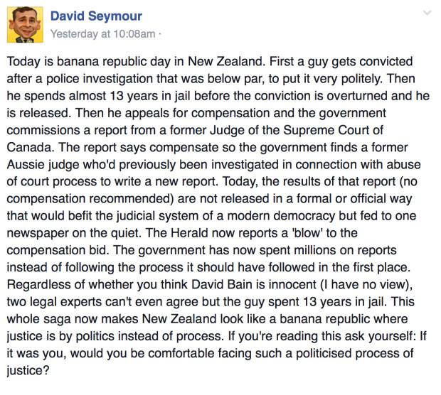 David Seymour on David Bain