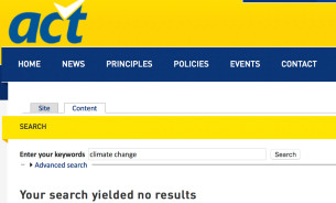 act climate change search