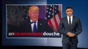 Donald Trump inconvenient douche