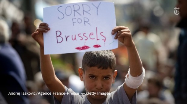 Refugee sorry for brussels belgium