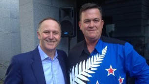 John Key with the runner-up for the 2016 Dick Of The Year, Sean Plunket