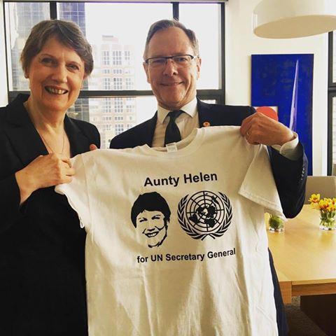 Aunty Helen Clark  for UN secretary