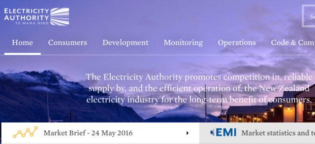 Electricity Authority website