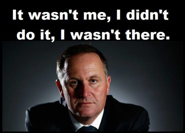 John Key was not me I wasnt there
