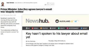 john key hasn't spoke to his lawyer