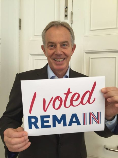 Tony Blair remain