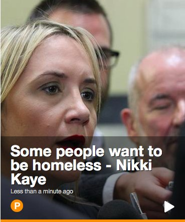 nikki kaye want to be homeless