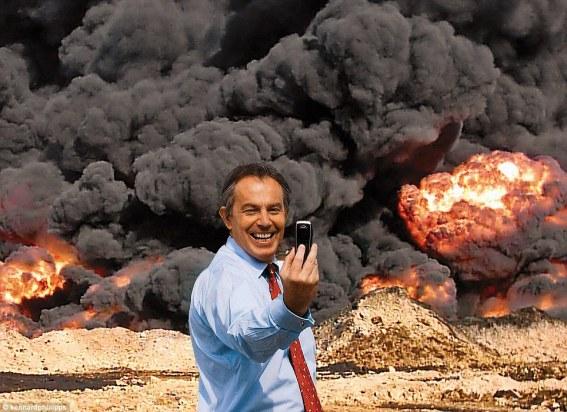Tony Blair destruction