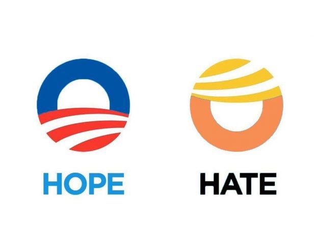 Obama Trump hope hate