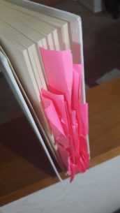 It's more Post-It than book, at this stage.