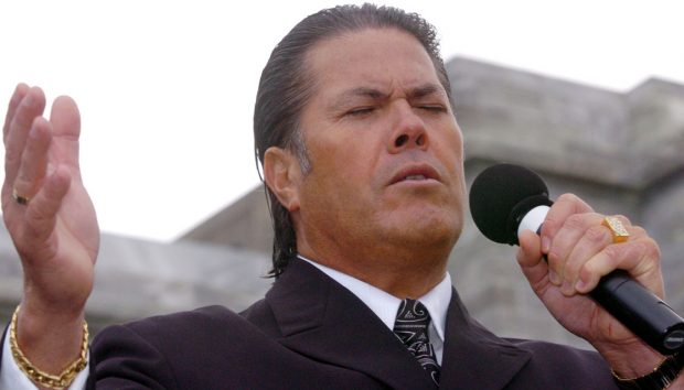 Brian Tamaki, recent victim of self/God?-inflicted burns. Don't be like Brian.