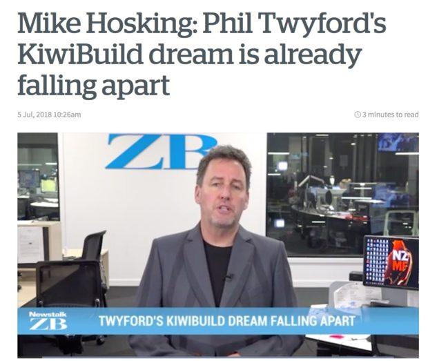 Mike Hosking Twyford Kiwibuild falling apart