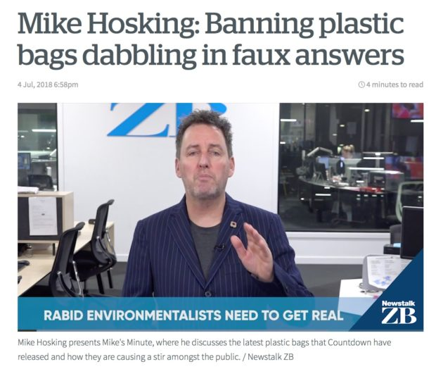 Mike Hosking banning plastic bags