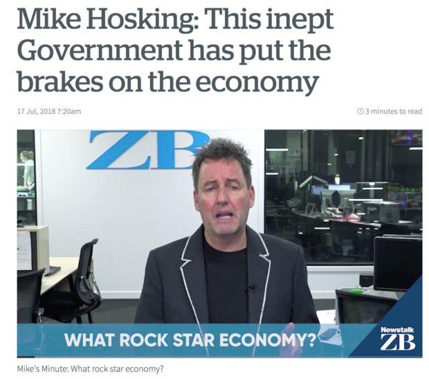 Mike Hosking rockstar economy